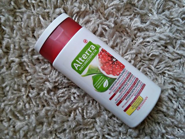 Alterra - Szampon nawilżający do włosów suchych i zniszczonych - Granat i aloes, kosmetyki wegańskie, opakowanie