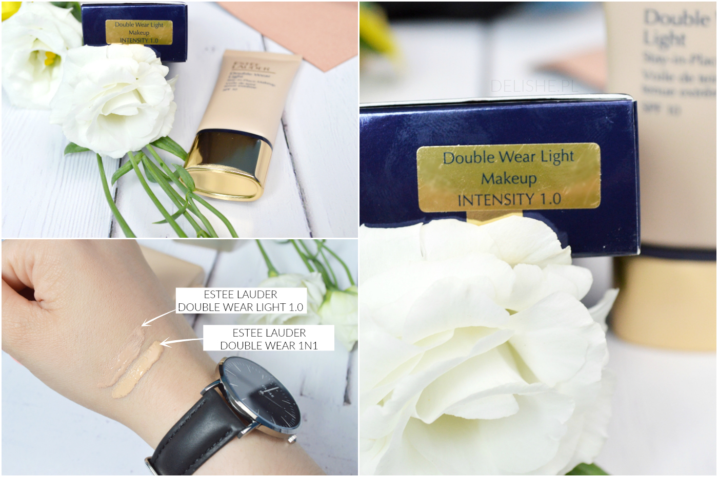 comparison estee lauder double wear and double wear light