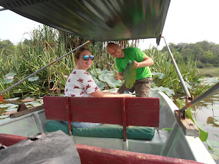 Stefan with field assistant Charlotte (a BSc student from Keele University)collecting plant samples.