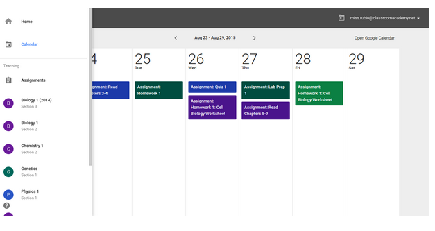 L'integrazione di Classroom con Google Calendar