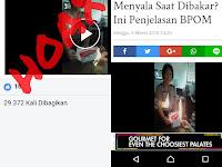 Hoax Biskuit Mengandung Plastik Bisa Terbakar