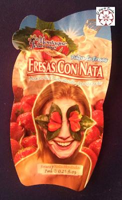mascarilla de fresas con nata