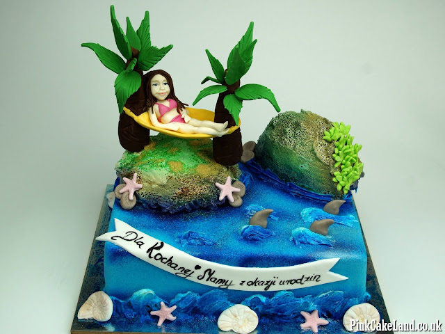 tropical island cake london