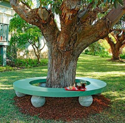 Bench Around Tree Outside Benches DIY Idea 2