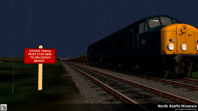 Fastline Simulation - North Staffs Minerals: Caverswell Bank Summit in North Staffs Minerals, a route for RailWorks Train Simulator 2012.