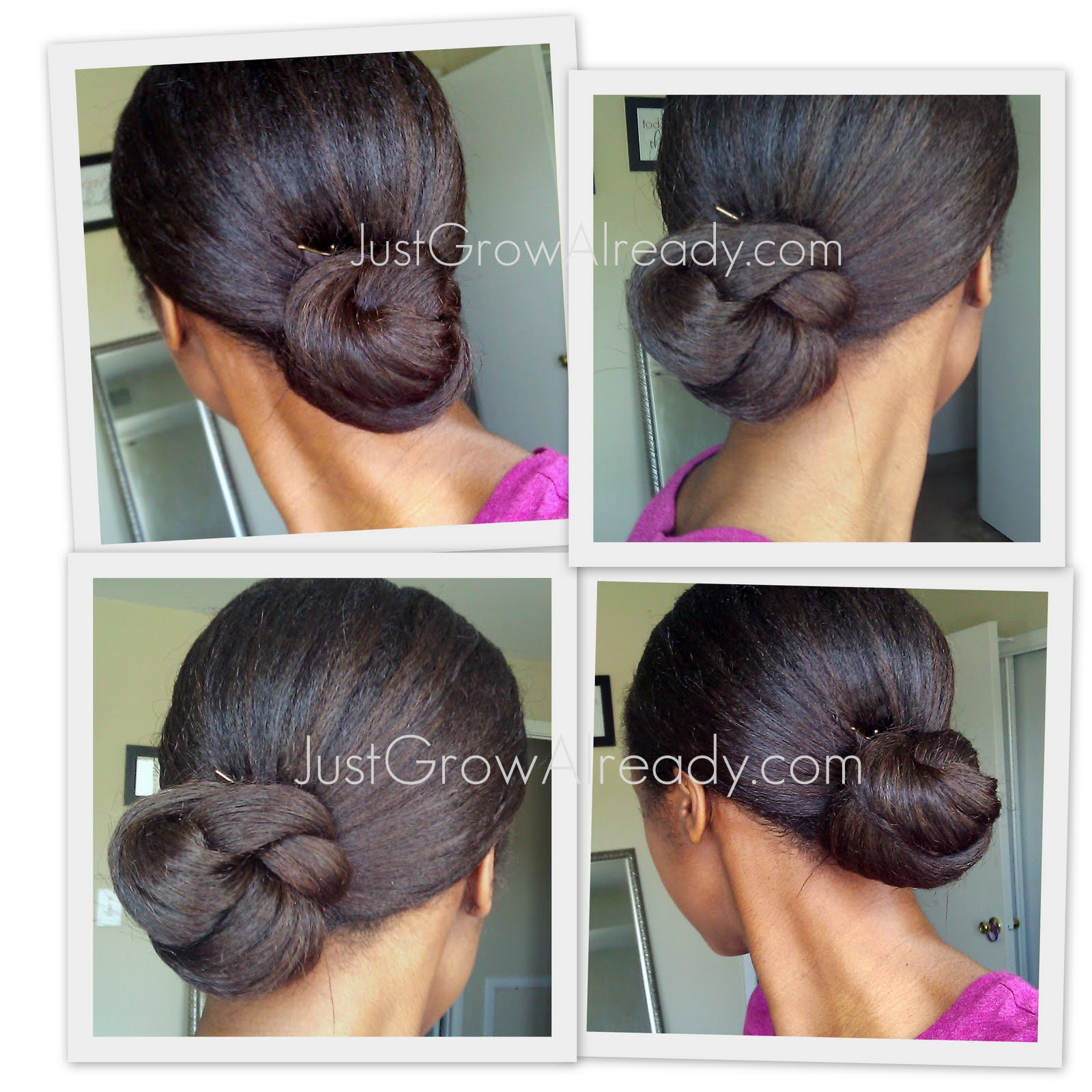 Natural Hair Buns Hairstyles