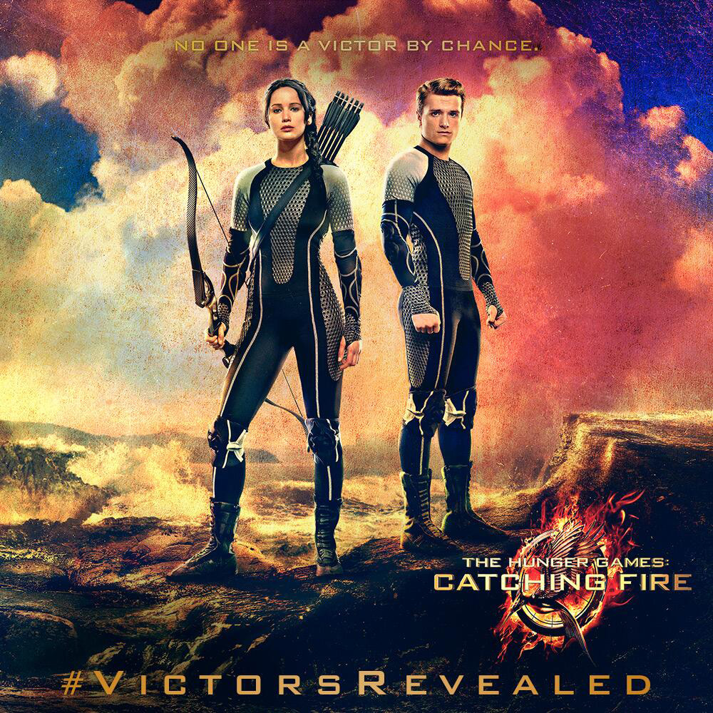 hunger games victors banner jennifer lawrence josh hutcherson The Hunger Games Victors Banner with Katniss and Peeta