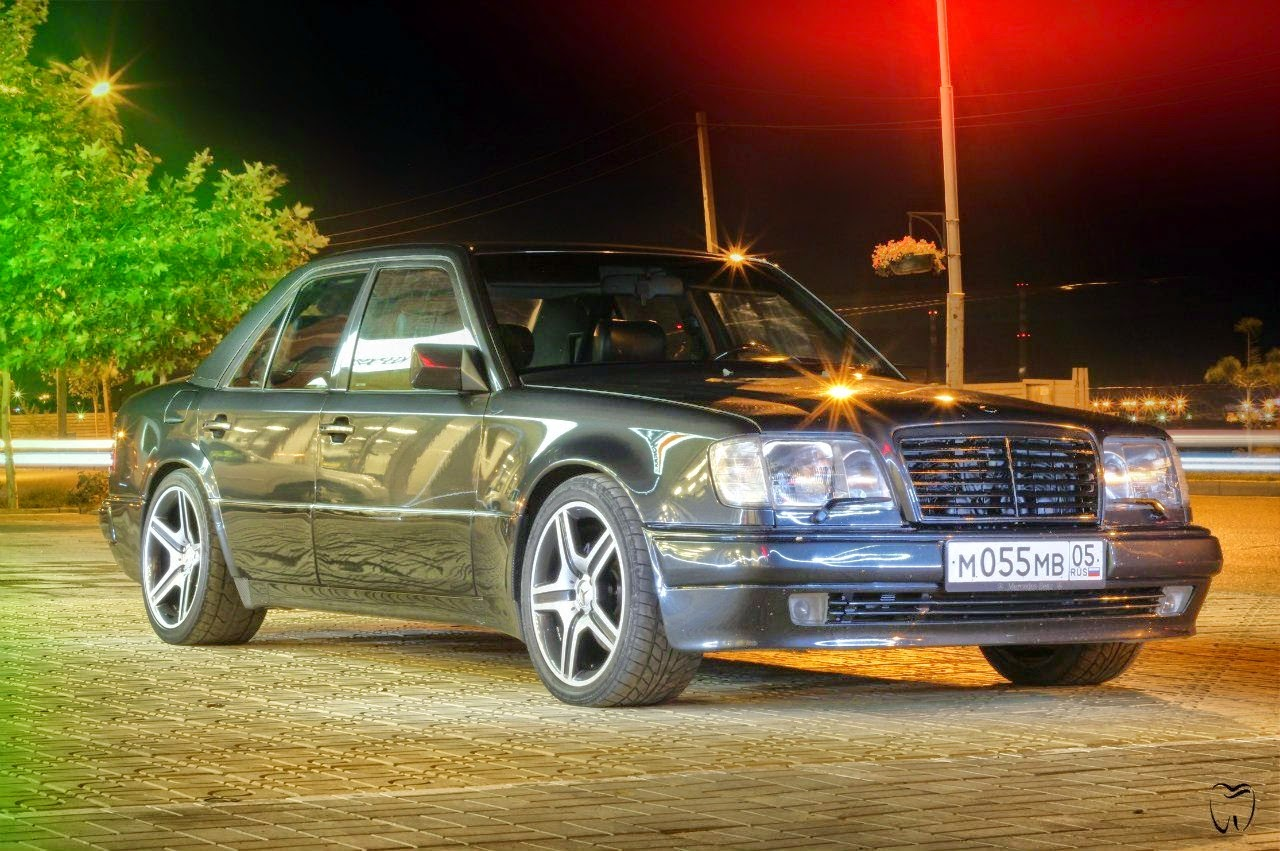 mercedes benz w124 e500 on amg replica wheels benztuning. Black Bedroom Furniture Sets. Home Design Ideas