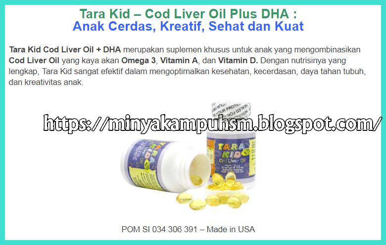 """Vitamin Anak """"TARA Kid"""" Dari Minyak Ikan Cod Untuk Kecerdasan Dan Tumbuh Kembang"""