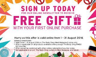 free gift sign up body shop