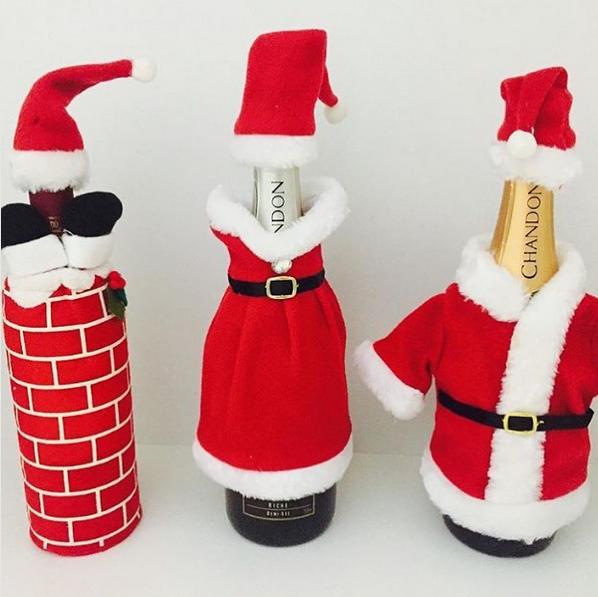 20 diy botellas decoradas de navidad for Botellas de vidrio decoradas para navidad