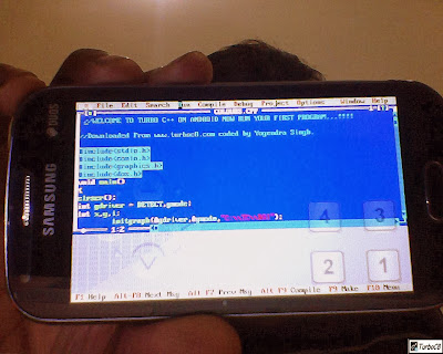 code screen turbo c on android