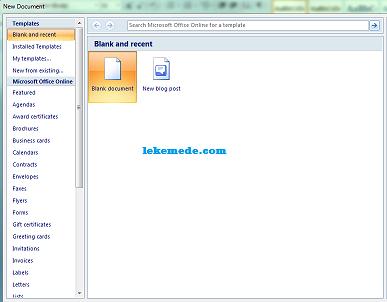 kotak dialog dokumen microsoft word