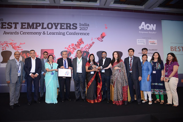 Schneider Electric India bags the prestigious Aon Best Employers India 2017 award