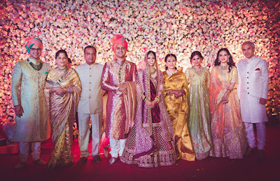 Groom Akshay and Krutika blessed