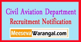 Civil Aviation Department Haryana Recruitment Notification 2017