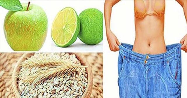 1 Limón, 2 Manzanas Y Una Taza De Avena; Mezclalo Y Perderás Peso Descontroladamente!