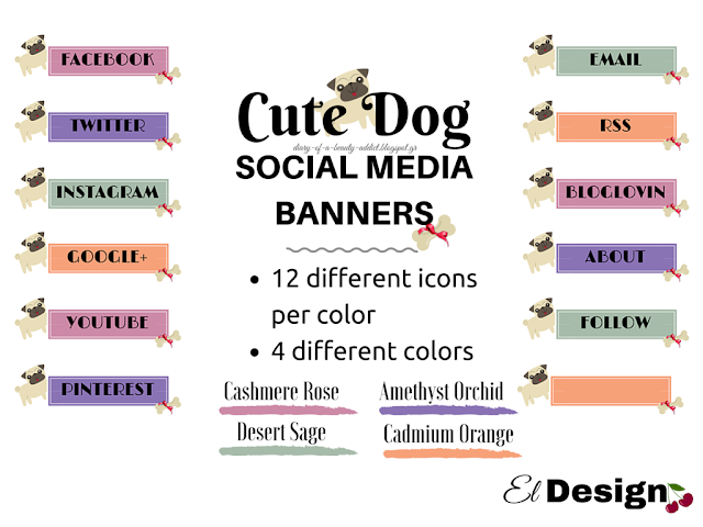 Freebies Day: Cute Dog Social Media Banners