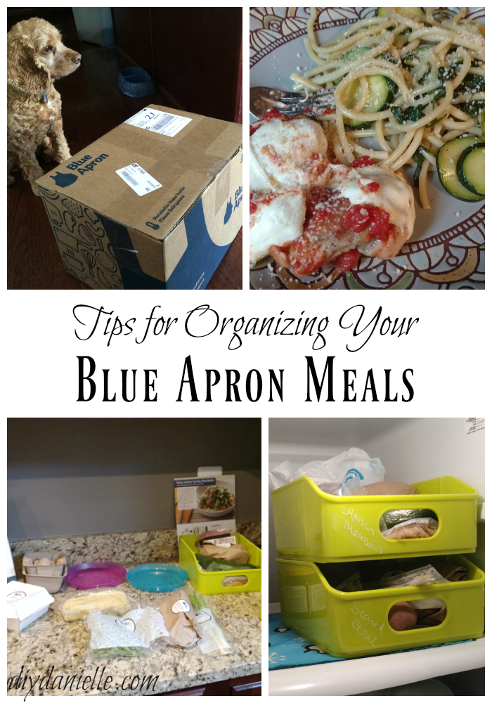 Tips for Organizing Blue Apron