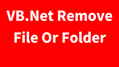 vb.net remove file or folder