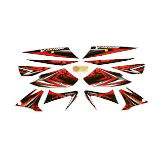 Idola Striping for Yamaha Vixion 2008 - Merah Black Red