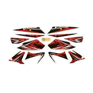 Idola Striping for Yamaha Vixion 2008 - Merah Black Red