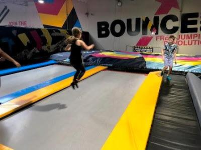 Girl jumping at Bounce Inc
