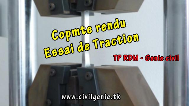 TP RDM Compte rendu essai de traction génie civil PDF
