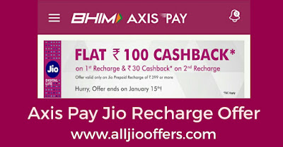 Axis Pay Jio Recharge Offer