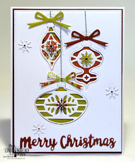 Our Daily Bread Designs Custom Dies: Retro Ornaments, Circle Ornaments, Holiday Words, Pierced Rectangles, Paper Collection: Retro Christmas