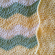 Ripple Wave Yellow, Cream, Green Baby Blanket Afghan