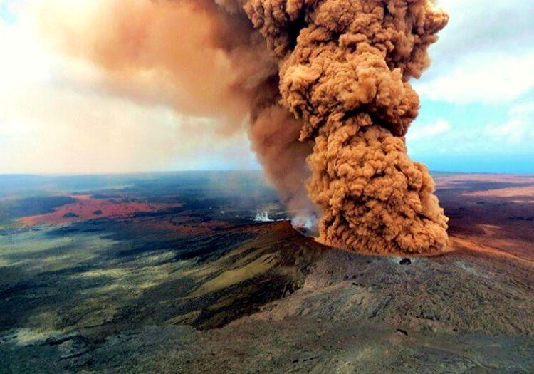 Yanardagi patlamasi öylesine şiddetliydi ki yükselen dumanlar kilometrelerce öteden fark ediliyordu.