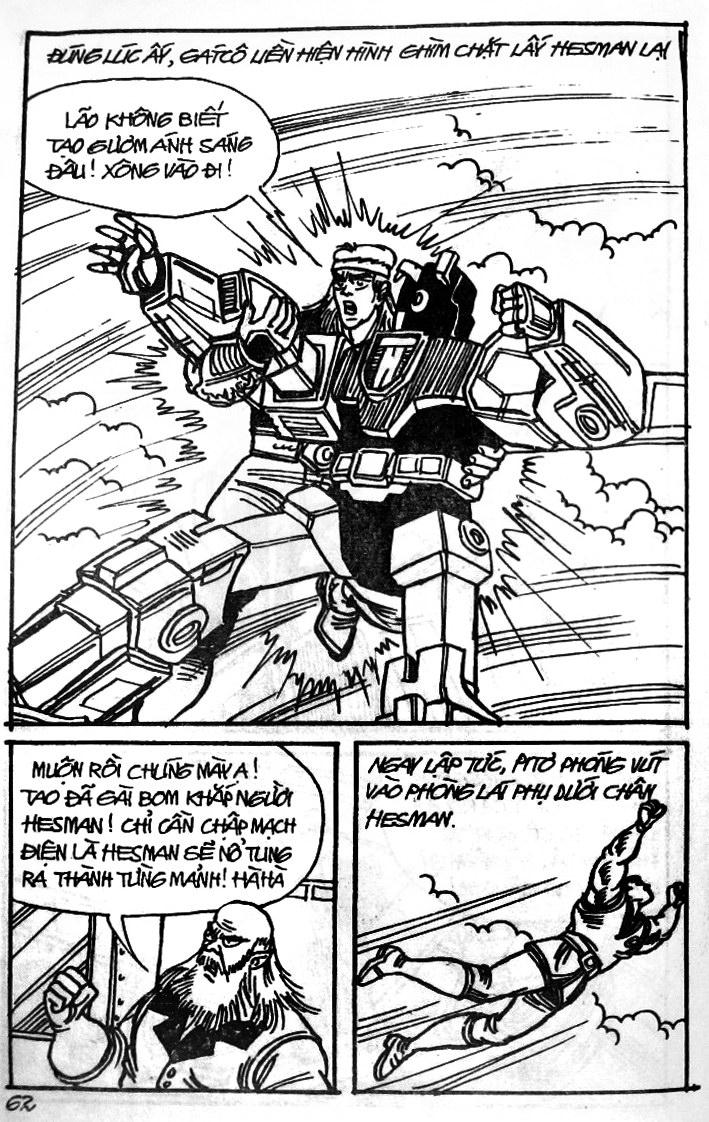 Dũng Sĩ Hesman tập 121 - chạy trốn tử thần trang 61