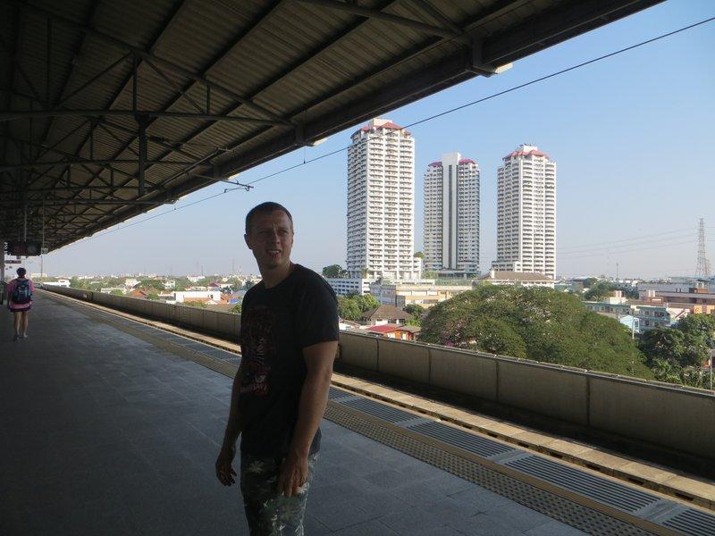 Сергей Балабин на станции Бангкок