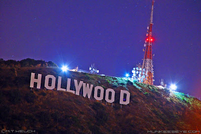 Hollywood Sign Night Wallpaper