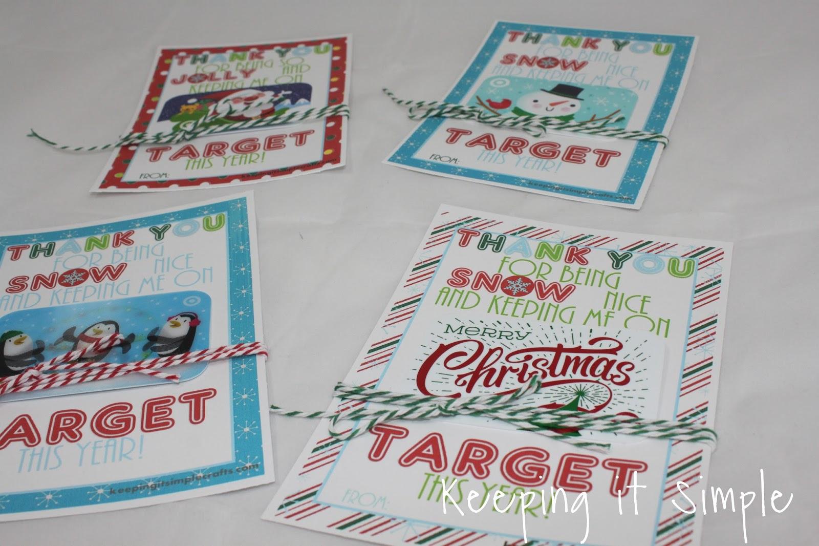 teacher christmas gift idea printable for target gift card