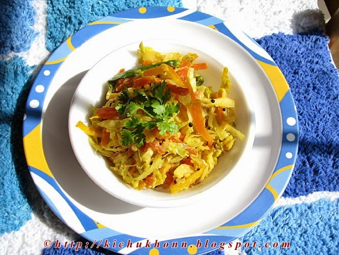 Cabbage and carrot stir fry