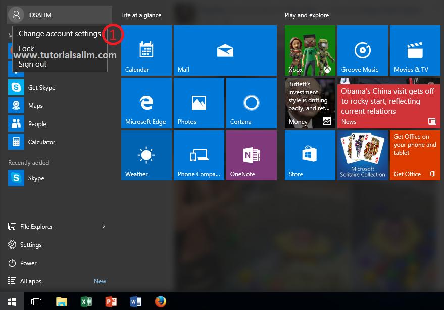 Pasword user login windows 10