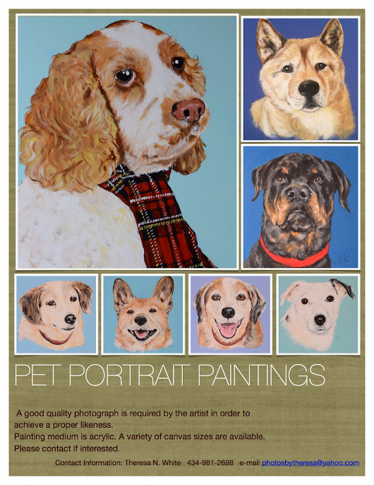 AMAZING PET PORTRAIT PAINTINGS BY THERESA N. WHITE
