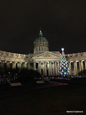 россия, санкт-петербург, новогодний петербург,