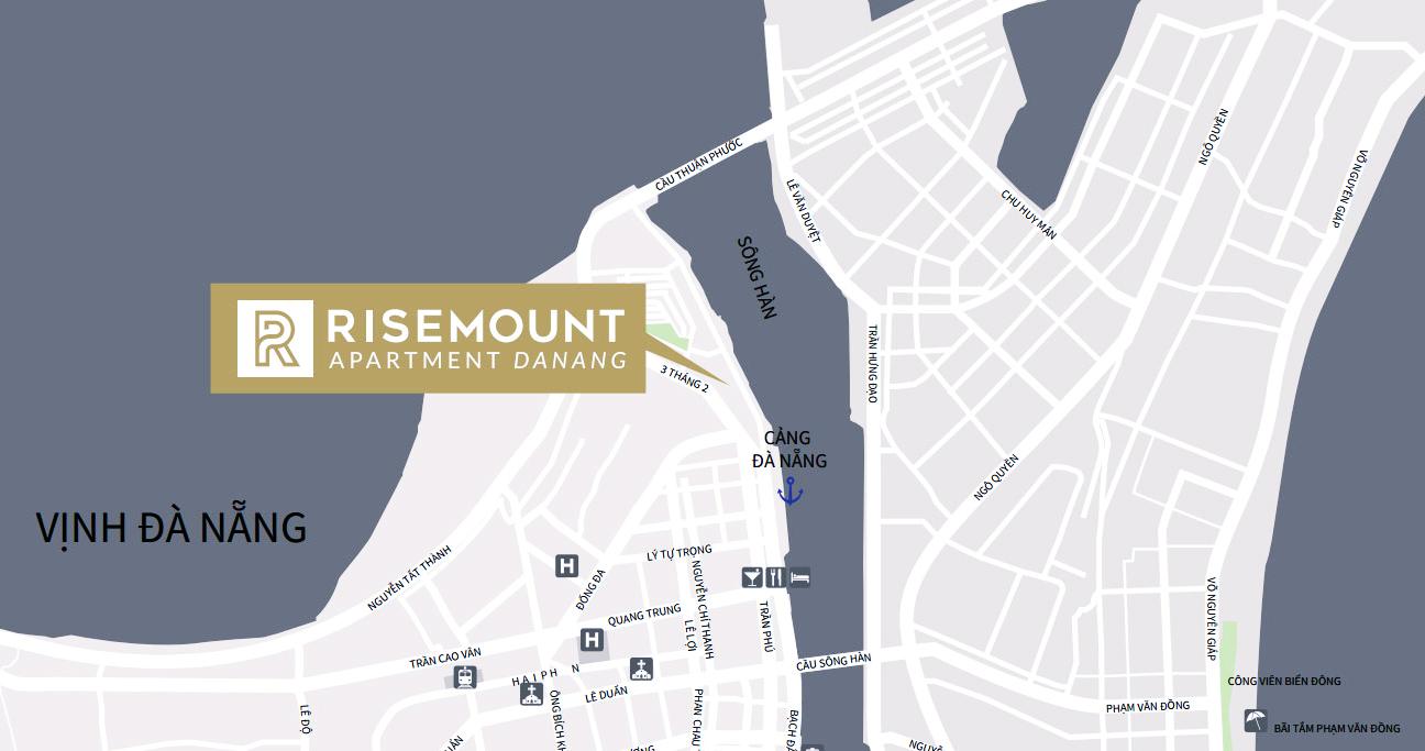 Vị trí đắc địa của dự án Risemount Apartment