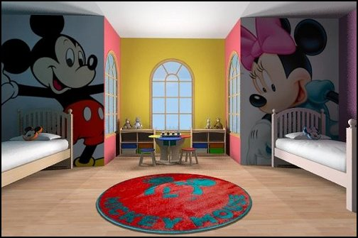 mickey minnie theme bedrooms-mickey minnie theme bedrooms  shared bedrooms ideas - decorating shared bedrooms - siblings sharing bedroom - Shared spaces - boy and girl shared room - Shared Kids Room decorating - Room dividers - shared bedroom spaces - curtains - Room Divider Curtains