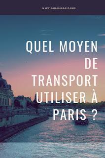 transport pour paris