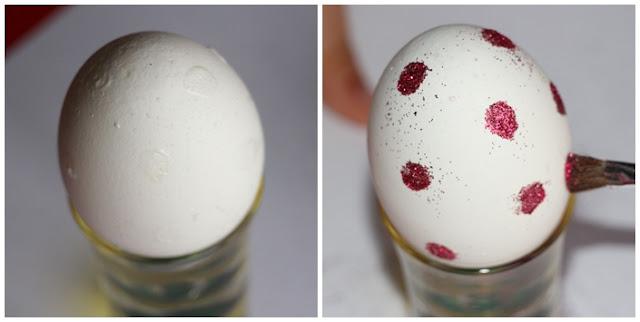 huevo purpurina