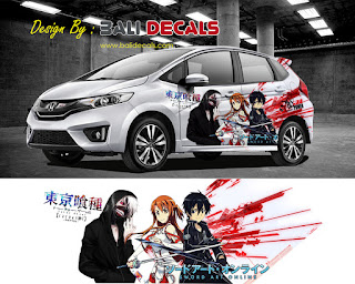 cutting sticker honda jazz