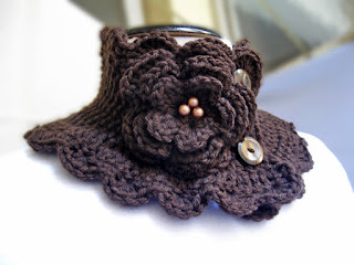 Hand Knit Scarf Neck Warmer Collar