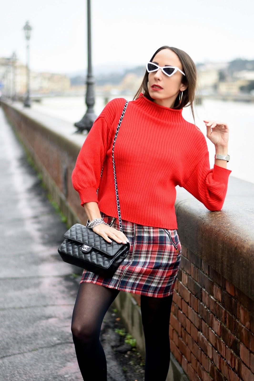 maglione cropped rosso