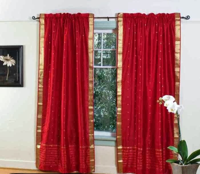 living room design: Red Curtains and Window treatments in ...