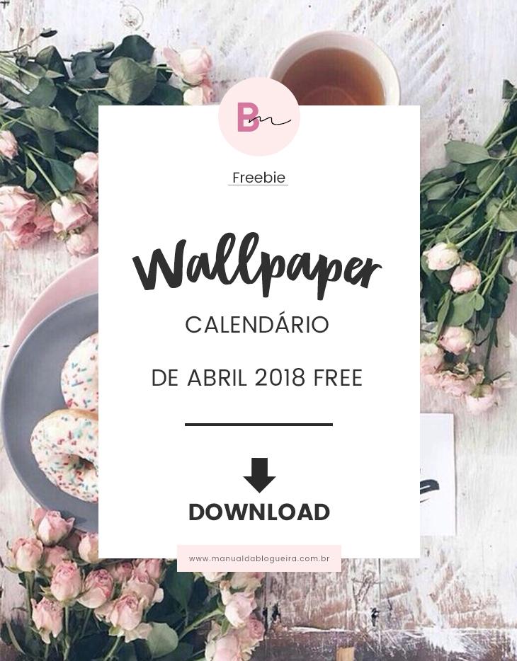 Wallpaper calendário de abril