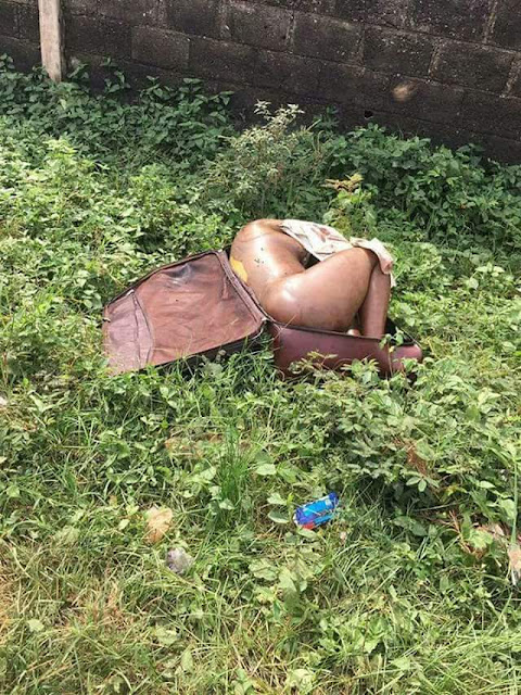 Graphic: Headless body of young lady reportedly found dumped in a suitcase along a road in Edo State